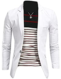 Jeansian Moda Chaqueta Traje Blusas Chaqueta Hombres Mens Fashion Jacket Outerwear Tops Blazer 8998