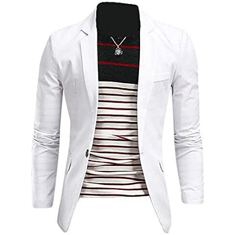 Jeansian Abiti Uomo Inverno Moda Giacca Uomo Tendenza Tuta Design Sottile Blazer 8998