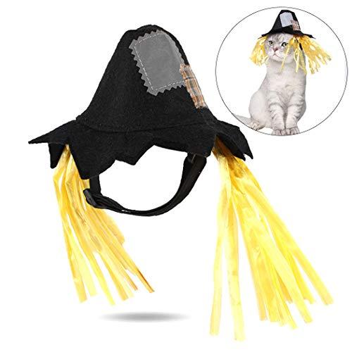 ZOYLINK Halloween Haustier Hut Neuheit Patch Verstellbarer Gurt Hund Kostüm Hut Katze Partyhut