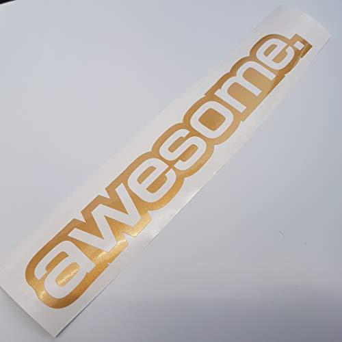 me Metallic Gold Shocker Hand Auto Aufkleber JDM Tuning OEM Dub Decal Stickerbomb Bombing Sticker Illest Dapper Fun Oldschool ()