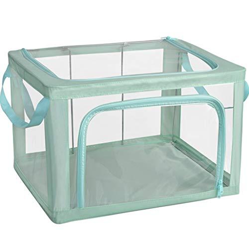 Gstrand Aufbewahrungsboxen Mit Deckel, Aufbewahrungskörbe Aus Transparentem, Stoff Faltenden Kleiderschrank Aufbewahrungsbox, Aufbewahrungsbox Aufbewahrungsbox (8 Farbe),Bronze,M