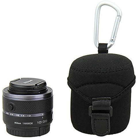 Maxsimafoto–Funda de neopreno/funda y gamuza de microfibra para Sony 3,5–5,616–50SELP 1650, Nikon 1NIKKOR VR 10–30mm f/3,5–5,6, Samsung 20–50mm F3.5–5.6II, Samsung 20–50mm F3,5–5,6, Fujifilm 18mm F2, Olympus M. Zuiko Digital 14–42mm 1: 3.5–5.6,, Olympus M. Zuiko Digital 14–42mm 1: 3.5–5.6II y otros.