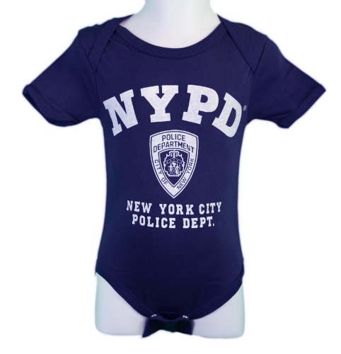 NYC FACTORY New York Cops – NYPD Baby Infant Siebdruck Body Marineblau Gr. 6-12 Monate, Navy
