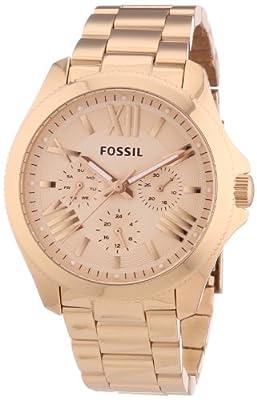 Fossil Cecile Multifunktion - Reloj de cuarzo para mujer, con correa de acero inoxidable, color oro rosa