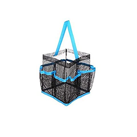 Storage bag,MML Mesh Shower Tote Wash Bag Bathroom Caddy With 8 Basket Pocket Storage Package