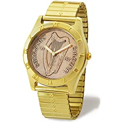 Irish Penny Watch Gold Style Case with Gold Style Elastic Wristband