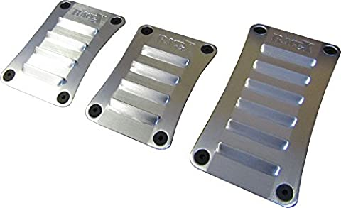 XtremeAuto® Alloy Sports/Racing Pedals set for car. BRUSHED ALUMINIUM.