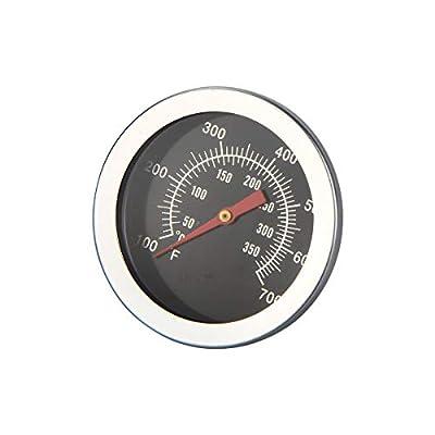 KDFKGULL BBQ Grill Thermometer Analog aus Edelstahl für Outdoor Smoker Räucherofen Grillwagen mit Celsius und Fahrenheit Anzeige 50°C bis 250°C