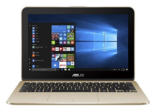 Asus VivoBook Flip 12 TP203NAH-BP044T 29,4 cm (11,6 Zoll HD Touch) Convertible Laptop (Intel Celeron N3350, 4GB RAM, 1TB HDD, Intel HD Graphics, Win 10 Home) gold
