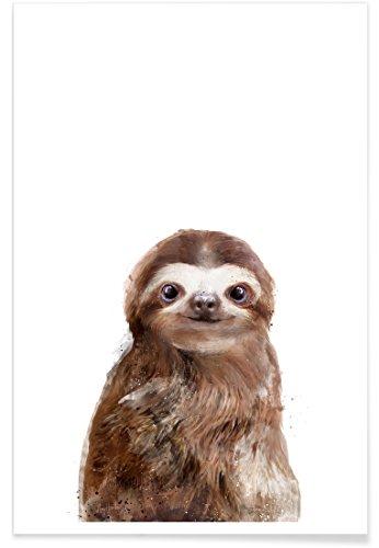 """faultier poster JUNIQE® Poster 30x45cm Kinderzimmer & Kunst für Kinder Faultiere - Design """"Little Sloth"""" (Format: Hoch) - Bilder, Kunstdrucke & Prints von unabhängigen Künstlern entworfen von Amy Hamilton"""