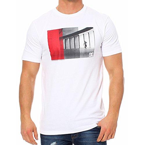 96B3 DC Shoes uomo DTMJE332 rotondo collo Skater T-Shirt a maniche corte colore bianco taglia S