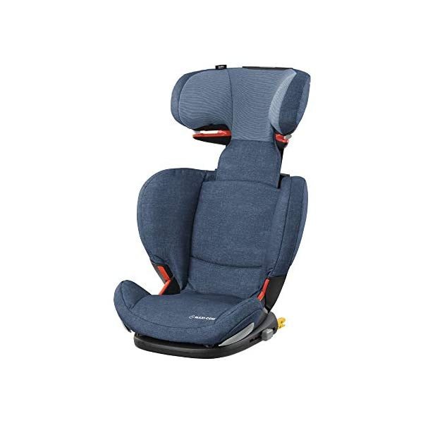 Maxi-Cosi RodiFix AirProtect Child Car Seat, ISOFIX Booster Seat, Extra Protection, 3.5-12 Years, 15-36 kg, Nomad Blue Maxi-Cosi Booster car seat for children from 15 to 36 kg (3.5 to 12 years) Grows along with your child thanks to the easy headrest and backrest adjustment from the top Patented AirProtect technology for extra protection of child's head 1