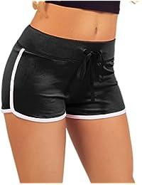 Mini Shorts Jersey Active Wear Sport coupe ajustée confortable pour les femmes