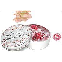 Personalisiertes Valentinstag Geschenk 'Liebe ist' - Dose mit Herzbonbons
