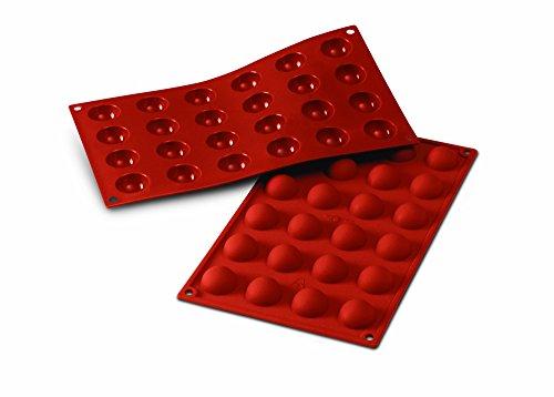 Silikomart 20.006.00.0060 SF006 Moule Forme Demi-Sphères 24 Cavités Silicone Terre Cuite