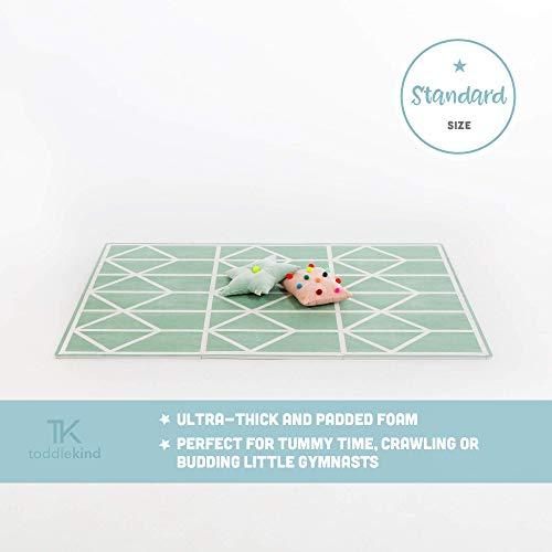 Krabbelmatte von Toddlekind |Spielmatte in Premium Qualität Extra Dicke, Abwischbare Puzzlematte Grün, multifunktional Kinder Spielteppich 0m+