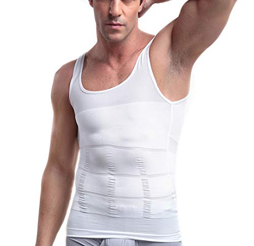 a595a80cb Mens Slimming Body Shaper Vest Shirt, Compression Muscle Tank