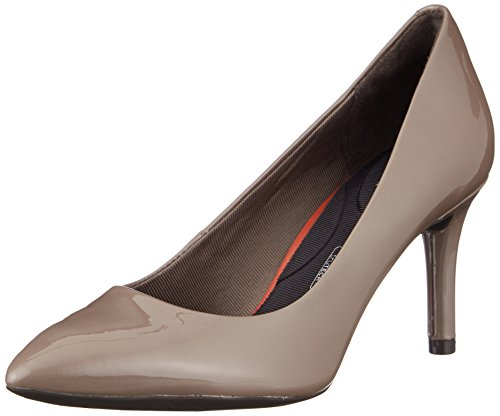 Rockport Damen Total Motion 75mm Pointy Toe Pump Geschlossene Zehenfersen, Beige (Taupe Grey Pearl Patent), 39 EU Pointy Toe Pumps Schuhe