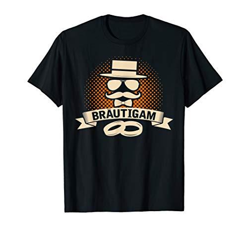Herren Bräutigam Shirt mit Hut,Sonnenbrille, Fliege und Eheringen