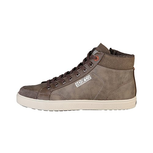 sparco-mens-hilltop-high-top-trainers-6-uk-brown