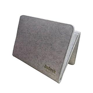DoGeek Bettablage zum Einhängen, Betttaschen Hängeaufbewahrung für Mobiltelefon, Fernbedienung, Wasserflasche, Zeitschriften - Bett-Organizer für das Schlafzimmer (hellgrau)