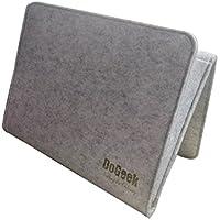 DoGeek Organisateur de Chevet Bedside Pocket Rangement de Chevet Gris Organisateur de Lit Bedside Caddy Sac de Rangement pour Livres, Téléphone, Lunettes, Jouets, Magazines -22 x 33 x 4 cm (Gris)