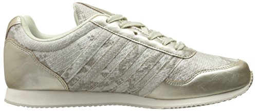 K-Swiss New Haven Snake CMF Synthétique Baskets Gold-Off White