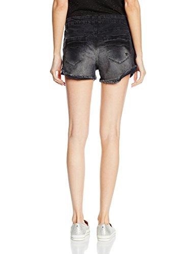 TOM TAILOR Denim Damen Jeanshose Crochet Tape Blue-Black Shorts Blau (blackblue denim 1206)