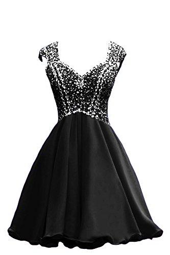 Bridal_mall un épaule femme abendkleider de long avec strass prom ballkleid chiffon élégant Jaune - Jaune