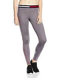 Tommy Hilfiger Th Piped Running Legging, Pantalon de Sport Femme