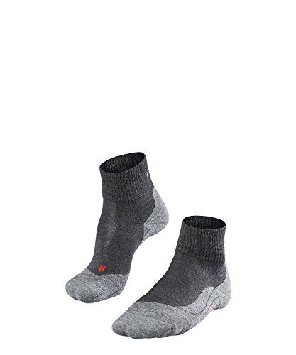 FALKE TK5 Short Damen knöchel-high Trekkingsocken / kurze Wandersocken - grau, Gr. 37-38, 1 Paar, leichte Polsterung, Merinowolle -
