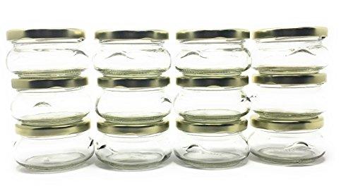 6oz Terrine Glas mit Gold Metall Deckel von Richards Verpackung 12Stück