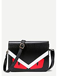 Premium Graphic Print PU Shoulder Bag With Adjustable Strap