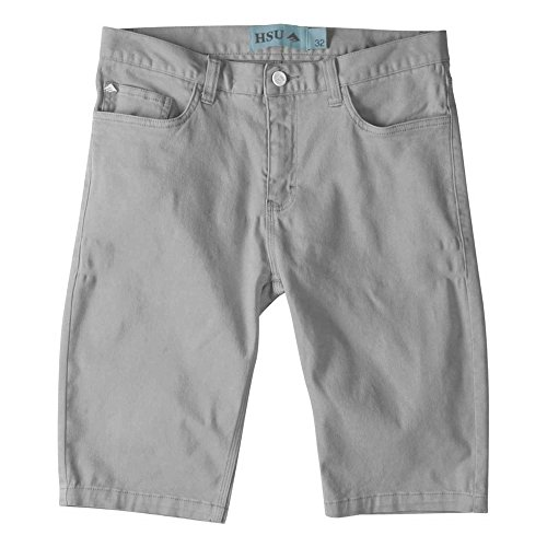 Emerica Herren Pant HSU Twill Short Hose Grey, 30