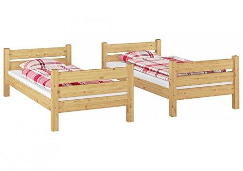 Letto A Castello Per Adulti : Solido letto a castello per adulti 90x190 con assi di legno e