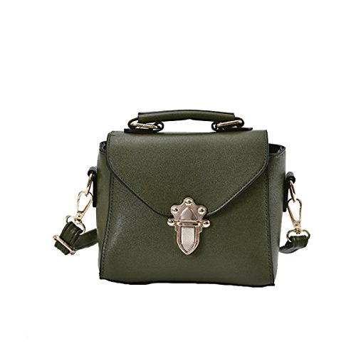 KYFW Womens Fashion Lock Handtasche Schulter Diagonal Gezeiten Kleine Square Bag E