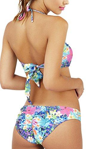 Dannii Matthews Damen Bikini-Set Rosa - Multicolour 2