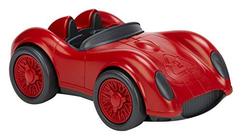 Asmokids - KKGT008R - La Voiture de Course - Green Toys- Rouge
