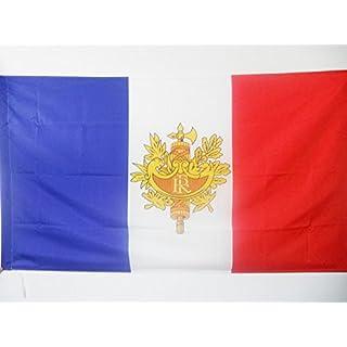 AZ FLAG Flagge Frankreich MIT Wappen 90x60cm - FRANZÖSISCHE Fahne 60 x 90 cm Scheide für Mast - Flaggen Top Qualität
