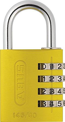 ABUS Aluminium-Zahlenschloss 145/40, gelb, 48809