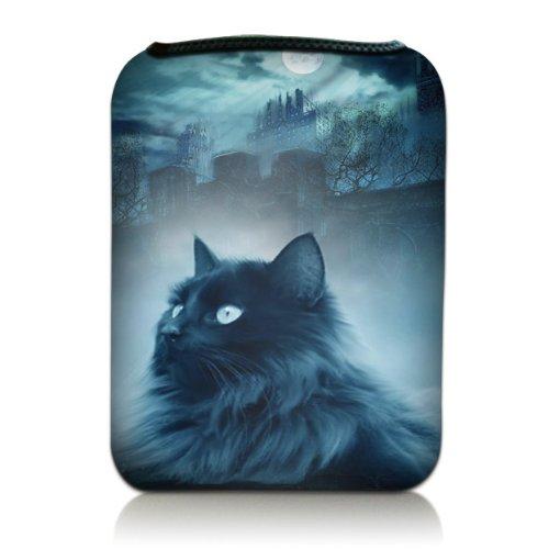 Luxburg® Design Tasche Hülle Sleeve für Kindle Paperwhite, Kindle Voyage 6 Zoll / Vision 3 HD / Vision2 / Vision 1 / Shine 2 HD, Sony PRS-T3, Pocketbook Touch Lux 3, Motiv: Katze & Felsen