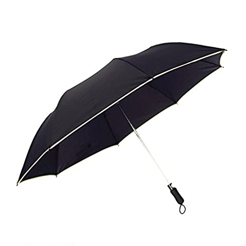 Large Umbrella, CoolFoxx 41 Inches Auto Open Windproof Oversize Bold 8 Ribs Compact Water Repellant Fabric Slip-Proof Handle Travel Umbrella with Storage Bag, Suitable for Travel and Rainy days, All