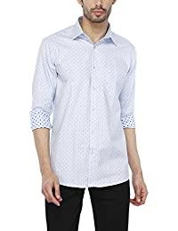 STOP to start Stop by Shoppers Stop Mens Regular Collar Printed Shirt_Blue_42