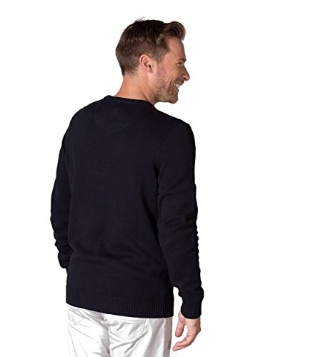 WoolOvers Pull à col rond - Homme - 100 % coton Navy