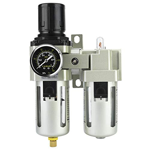 AC4010-06 Kompressor Filter Kit, 0,05-0,85 (mpa) 5μm-80μm Aluminiumlegierung Typ Luftdruck Kompressor Filter Öl Wasserregler Tools Kit