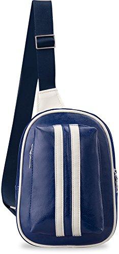 sportlicher kleiner Rucksack Einarmrucksack Sporttasche Freizeittasche Ausflug Fahrrad Blau