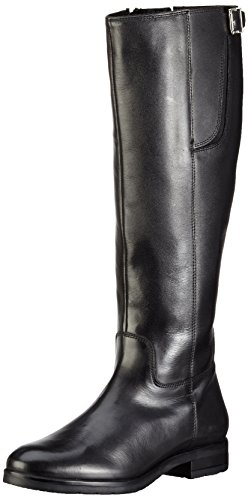 Bianco Damen Long Buckle Boot JJA16 Langschaft Stiefel, Schwarz (10/Black), 39 EU (Buckle Boots)