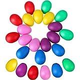 24 Stücke Egg Shaker Set Maracas Eier Musical Eier Ei Shakers Kunststoff Eier für Kinder Party Supplies Musical Spielzeug, 6 Farben
