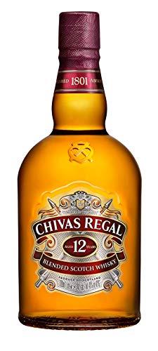 Chivas Regal 12 Jahre Premium Blended Scotch Whisky - 12 Jahre gereifter Blend aus schottischen Malt & Grain Scotch Whiskys aus der Region Speyside - 1 x 1 L