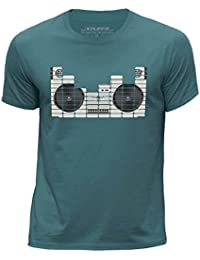STUFF4 Boy's Round Neck T-Shirt/Equalizer/Boom Box/CS